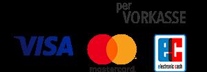 Logo Zahlungsarten: PayPal, Vorkasse, Visa, Mastercard, EC